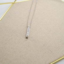Load image into Gallery viewer, Crystal Stick Pendant Silver Necklace - Catstone NYC