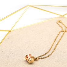 "Load image into Gallery viewer, ""I Love You"" Pendant Gold Plate Necklace - Catstone NYC"