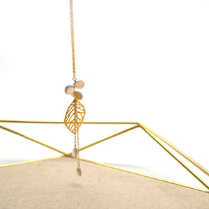 Gold Leaf Pendant Necklace - Catstone NYC