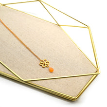 Load image into Gallery viewer, Gold Flower Citrine Pendant Necklace - Catstone NYC
