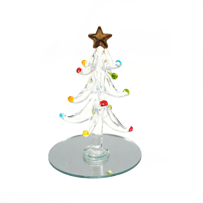 Crystal Glass Christmas Tree, Ornament - Catstone NYC