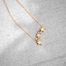 Load image into Gallery viewer, Topaz Stars Pendant Gold Plated Necklace - Catstone NYC
