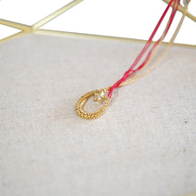 Load image into Gallery viewer, Red String Gold Star Pendant Necklace - Catstone NYC