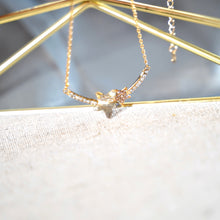 Load image into Gallery viewer, Brown Topaz Stars Pendant Gold Necklace - Catstone NYC