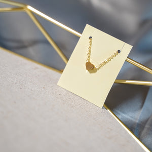 Minimalist Heart Pendant Gold Necklace - Catstone NYC