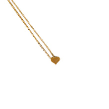 Load image into Gallery viewer, Minimalist Heart Pendant Gold Necklace - Catstone NYC