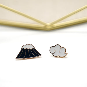 MOUNTAIN AND CLOUD ENAMEL PINS (3 PCES) - Catstone NYC