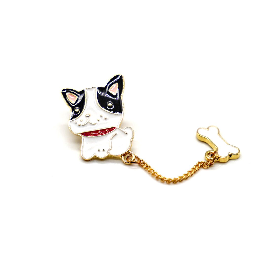 Cartoon Girl and Dog Enamel Brooches(set of 2) - Catstone NYC