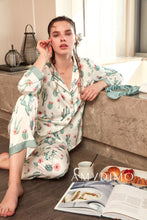Load image into Gallery viewer, Satin Cactus Print Pajama Set of Three - Catstone NYC