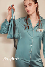 Load image into Gallery viewer, Satin Silk Long Sleeve Pajama Set - Catstone NYC