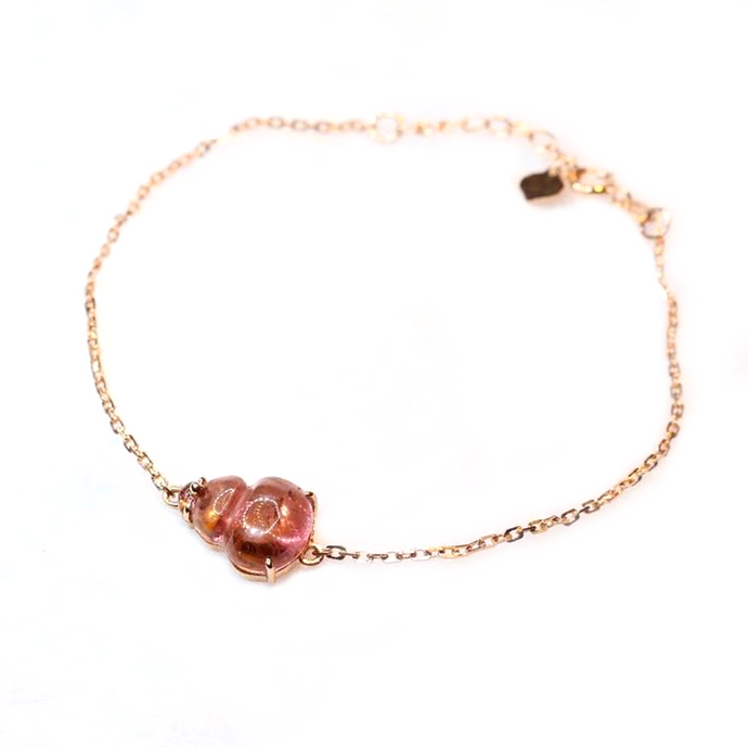 CatstoneNYC Customized Gemstone - Strawberry Quartz Bracelet - Catstone NYC