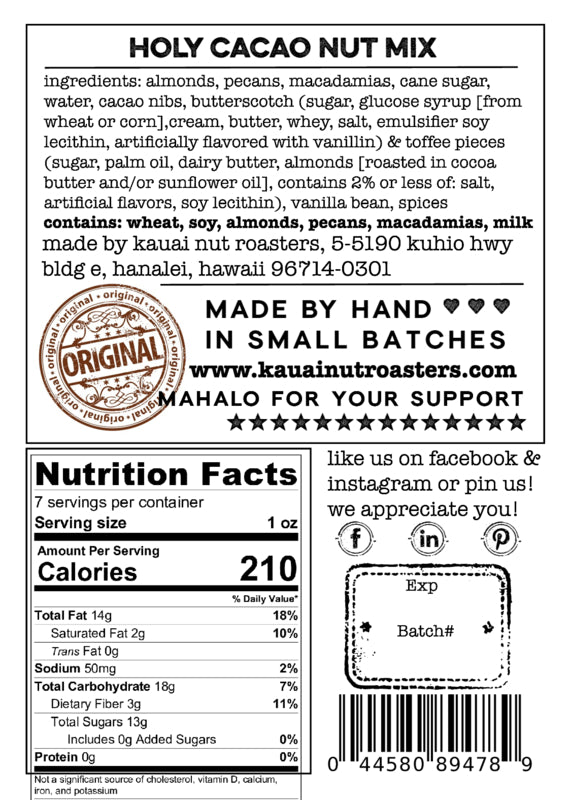 Holy Cacao Macadamia Mix
