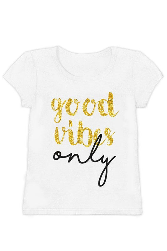 Girl's Good Vibes Only Tee