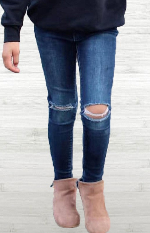 Girl's Jeans Knees Distressed
