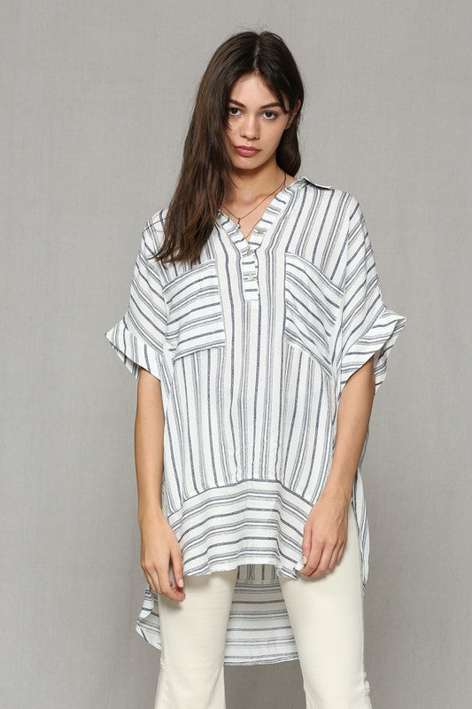 Striped Me Top Tunic