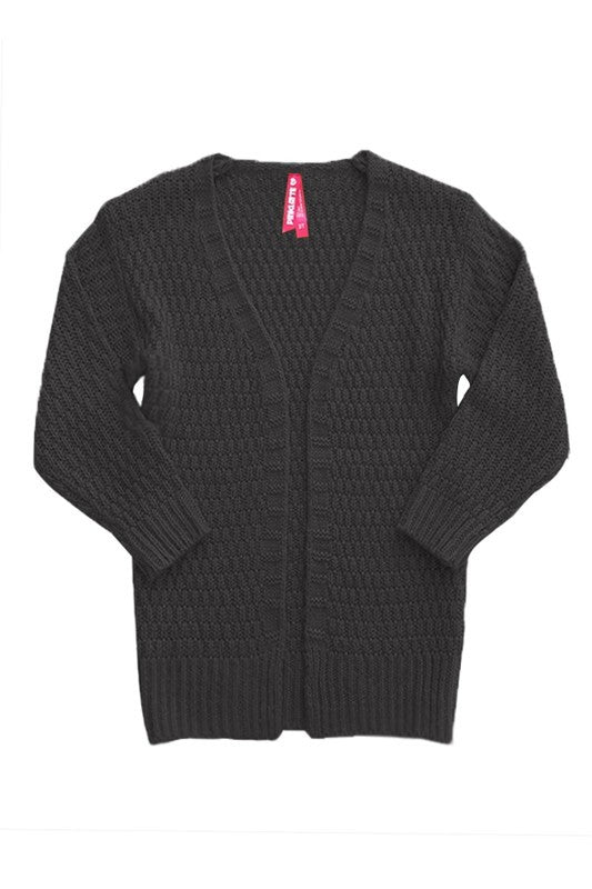Girl's Chunky Knit Cardigan
