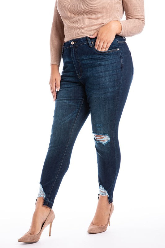 Straight, Distressed, and Curvy Jean
