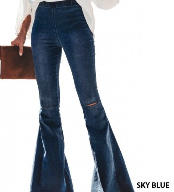 KNEE SLIT BELL BOTTOMS