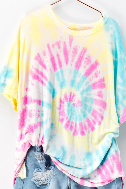 COTTON CANDY SWIRL TIE DYE TSHIRT