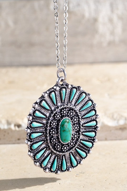 Western Boho Pendant Necklace