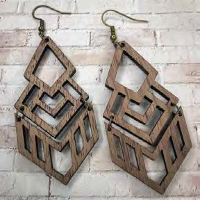 3d Grace Earrings - Blush Boutique Bremen