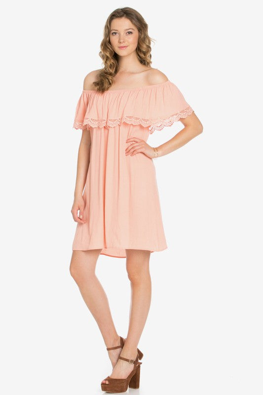 Blush Off Shoulder Dress - Blush Boutique Bremen