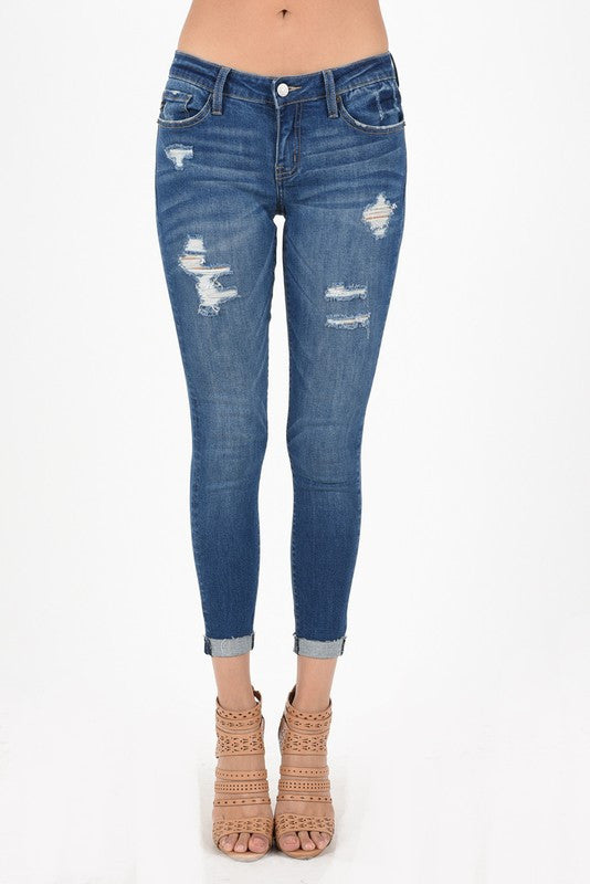 Kancan Skinny Jeans, Regular Wash - Blush Boutique Bremen