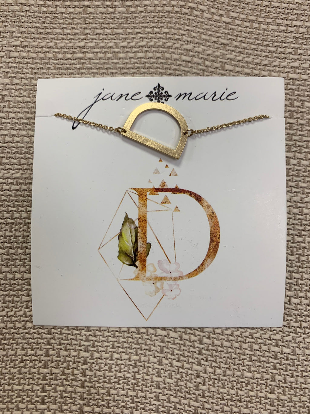 Initial Necklace-D