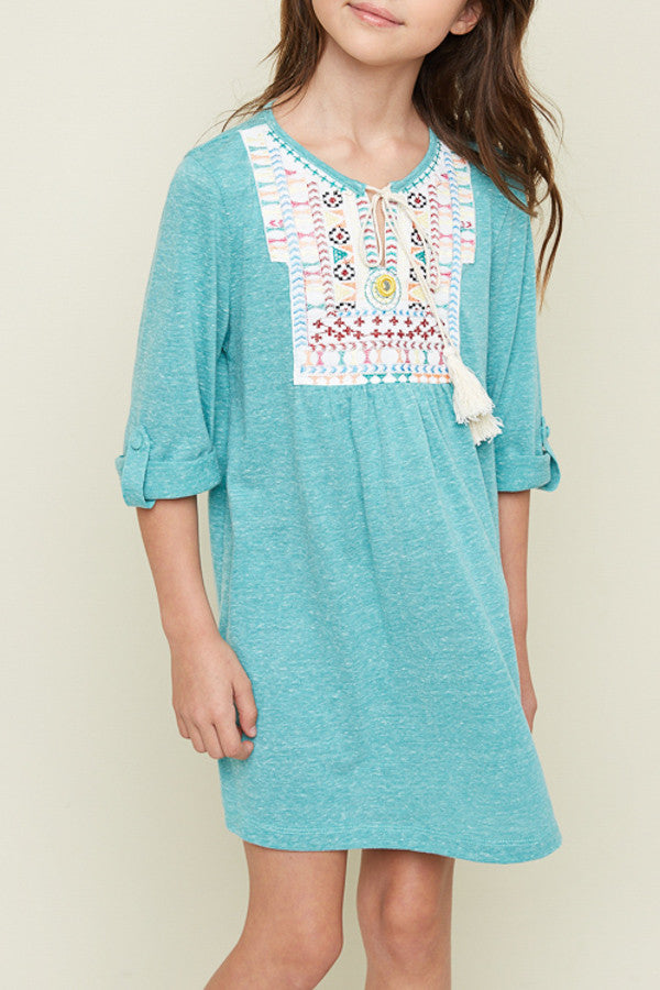 Tweens Embroidered Tunic Dress