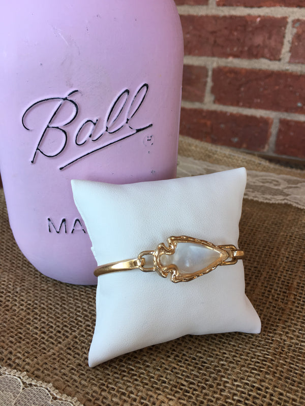 Clear Bubble Arrow Cuff Bracelet - Blush Boutique Bremen
