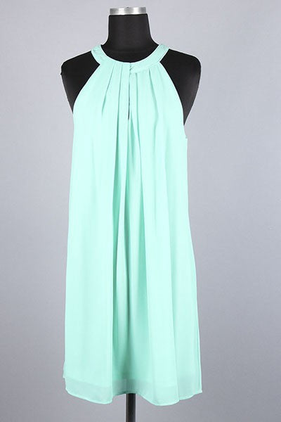 Flirt Pleated Chiffon Dress