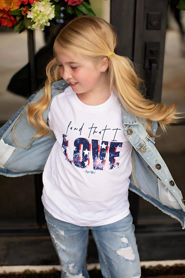 Kids August Bleu Love (Land that I Love)