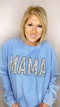 August Bleu Dottie MAMA Sweatshirt