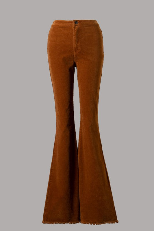CORDUROY WITH FRAY BELL BOTTOMS