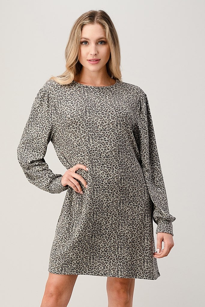 Faded Leopard Dress