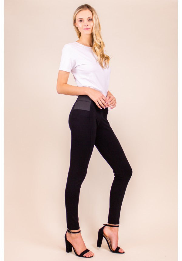 HIGH WAISTED LEGGING WITH SEAM DETAIL