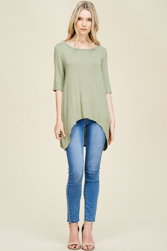 Clothesline Slit Back Top - Blush Boutique Bremen