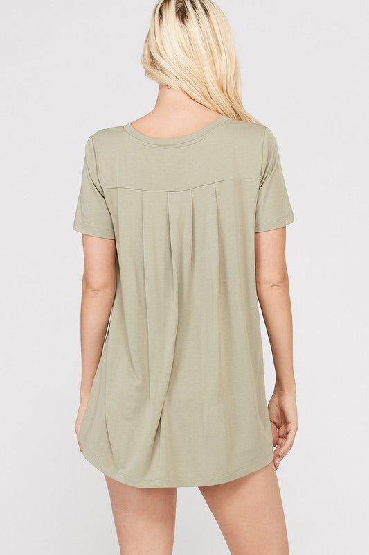 Basic Hi-Lo Knit top - Blush Boutique Bremen