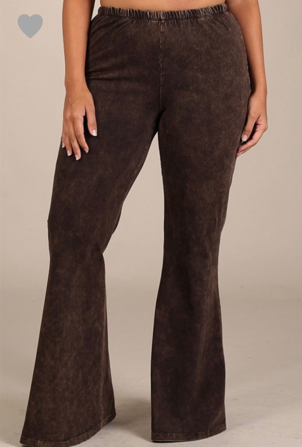 Mineral Wash Bell Bottoms (Curvy)