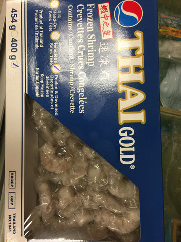 虾中之皇 速冻虾仁 Thai Gold Frozen Shrimp Peeled Deveined 61/70 400g