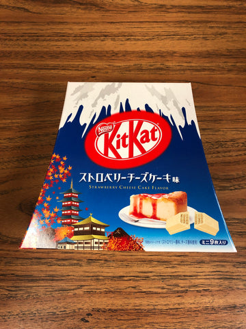 Kitkat 草莓芝士蛋糕味 Kitkat Starwberry Cheese Flavor 9pieces