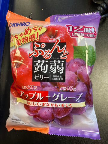 蒟蒻葡萄苹果 grape and apple Flavor 12*20g