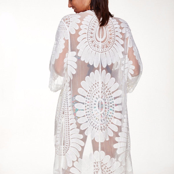 Floral Pareo Beach Cover Up