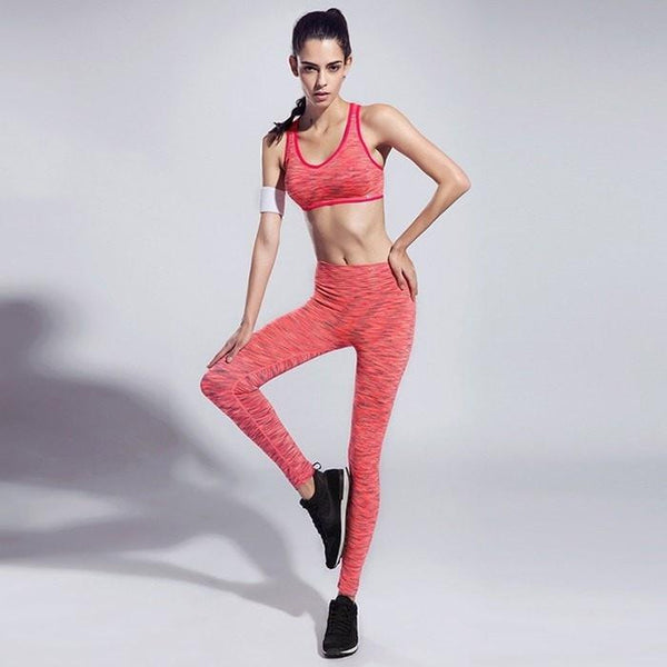Fashion Women Highly Elastic Sports Outfit - Mottled Pattern - FitShopPro.com - 5