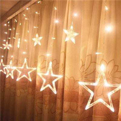 Curtain Star String Lights Christmas 220V