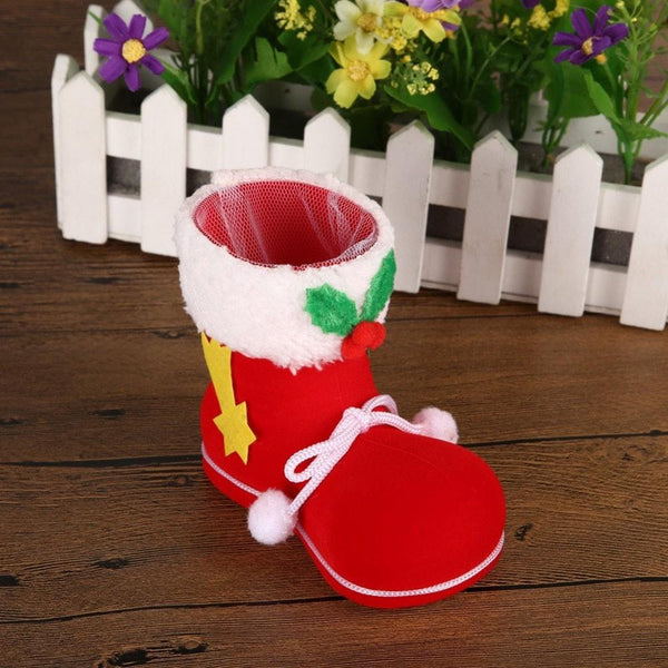 Christmas Tree Ornaments Red Boots Candy Bag 3pcs