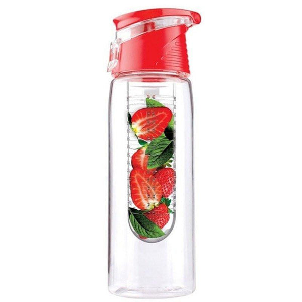 Flip Lid Fruit Infuser Water Bottle - Eco-Friendly BPA