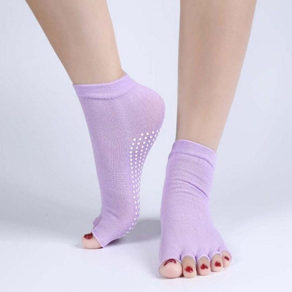 Cotton Yoga Socks with Grip - FitShopPro