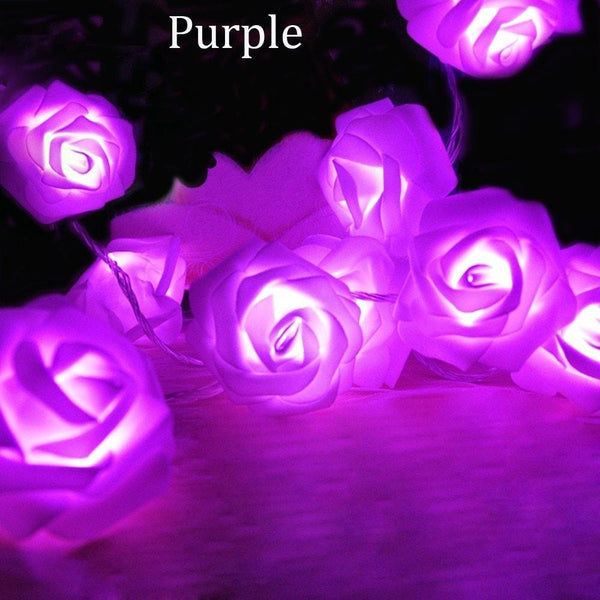 Rose LED String Light 20pcs/2M Battery Christmas Or Party Decoration