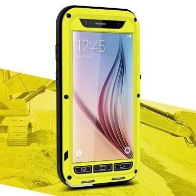 * Samsung Case *  S6 Waterproof Metal Case Physical Button + Full Protecction Glass